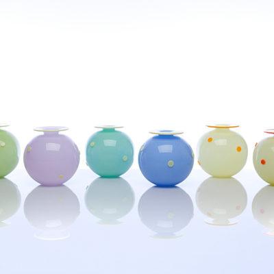 Round Polka Dot Vases