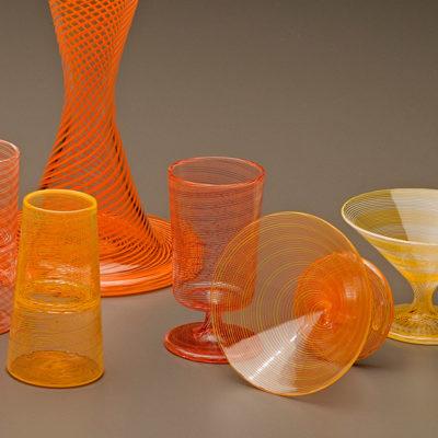 Pinstripe Cups, detail