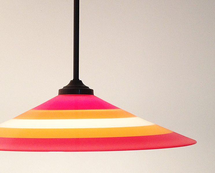Hanging lamp by Two Tone Studios